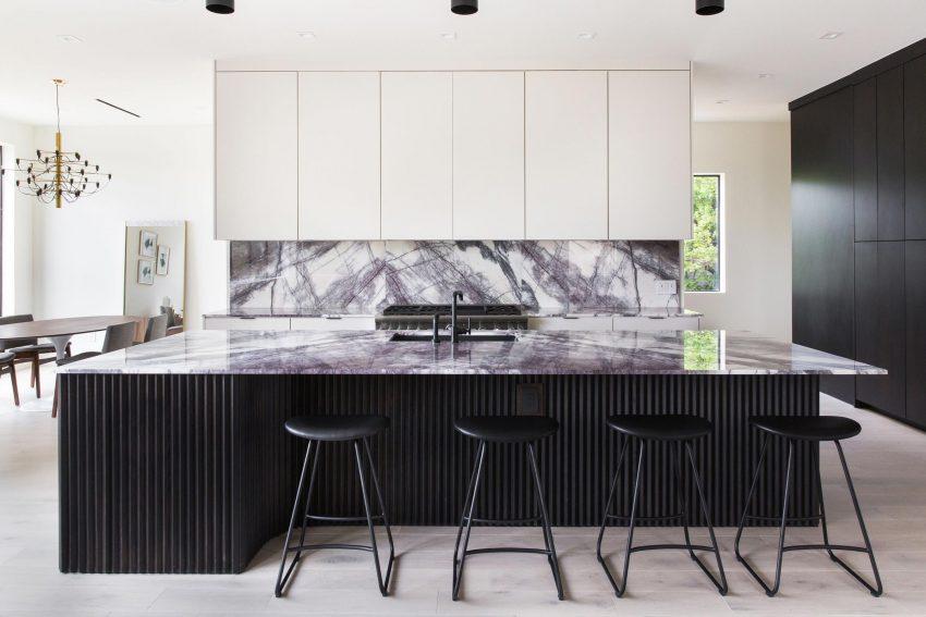 Nhà bếp bằng đá marble Lilac Scuro
